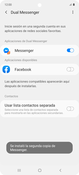 Cómo usar el Dual Messenger - Samsung Galaxy A51 - Passo 10