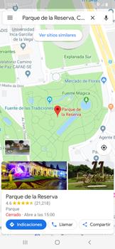Uso de la navegación GPS - Samsung Galaxy A50 - Passo 9