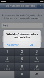Configuración de Whatsapp - Apple iPhone 5c - Passo 4