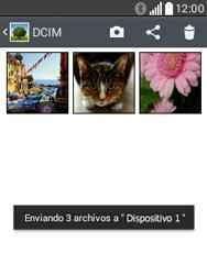 Transferir fotos vía Bluetooth - LG L20 - Passo 11