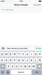 Envía fotos, videos y audio por mensaje de texto - Apple iPhone 6 - Passo 7