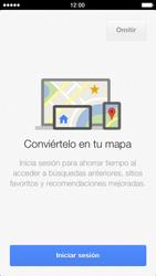 Uso de la navegación GPS - Apple iPhone 5s - Passo 5