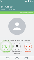 Contesta, rechaza o silencia una llamada - LG G3 D855 - Passo 4