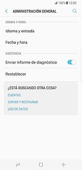 Restaura la configuración de fábrica - Samsung Galaxy S8 - Passo 5