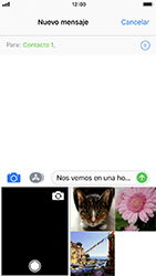 Envía fotos, videos y audio por mensaje de texto - Apple iPhone 8 - Passo 9