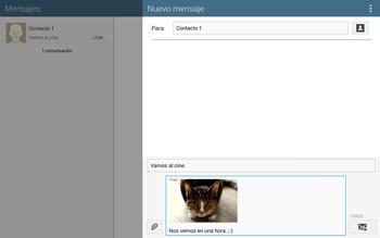 Envía fotos, videos y audio por mensaje de texto - Samsung Galaxy Note Pro - Passo 19