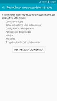 Restaura la configuración de fábrica - Samsung Galaxy Note 5 - N920 - Passo 6