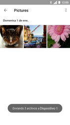 Transferir fotos vía Bluetooth - Motorola Moto C - Passo 11