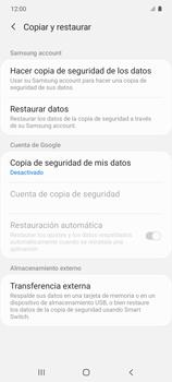 Realiza una copia de seguridad con tu cuenta - Samsung Galaxy S10 Lite - Passo 6