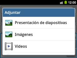 Envía fotos, videos y audio por mensaje de texto - Samsung Galaxy Y Pro GT - B5510 - Passo 12