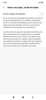 Realiza una copia de seguridad con tu cuenta - Xiaomi Redmi Note 7 - Passo 6