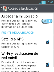 Uso de la navegación GPS - LG Optimus L3 II - Passo 6