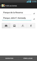 Uso de la navegación GPS - LG Optimus L5 II - Passo 15