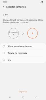 ¿Tu equipo puede copiar contactos a la SIM card? - Samsung Galaxy A50 - Passo 8