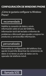 Activa el equipo - Nokia Lumia 800 - Passo 7