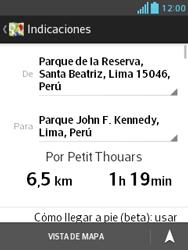 Uso de la navegación GPS - LG Optimus L3 II - Passo 16
