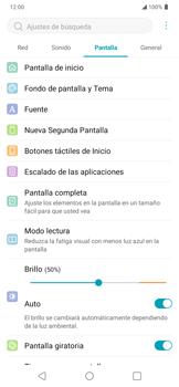 Cambiar configuraciones de pantalla - LG K40S - Passo 8