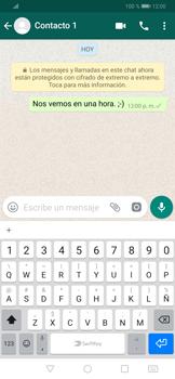 Usar WhatsApp - Huawei P30 - Passo 7