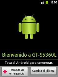 Activa el equipo - Samsung Galaxy Y  GT - S5360 - Passo 3