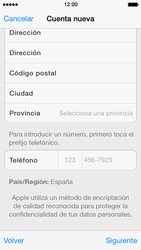 Crea una cuenta - Apple iPhone 5s - Passo 21