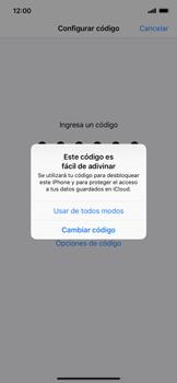 Activa o desactiva el uso del código de seguridad - Apple iPhone XR - Passo 5