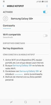 Configura el hotspot móvil - Samsung Galaxy S8+ - Passo 14