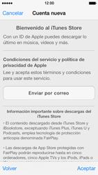 Crea una cuenta - Apple iPhone 5s - Passo 9
