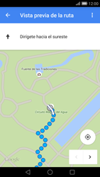 Uso de la navegación GPS - Huawei Ascend Mate 7 - Passo 21