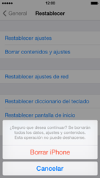 Restaura la configuración de fábrica - Apple iPhone 5s - Passo 8