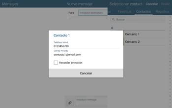 Envía fotos, videos y audio por mensaje de texto - Samsung Galaxy Note Pro - Passo 6