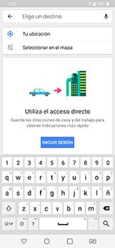 Uso de la navegación GPS - LG G7 Fit - Passo 12