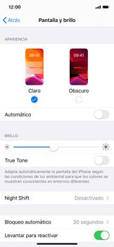 Ajustar el brillo/ Suspensión de pantalla - Apple iPhone XS - Passo 7