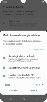Modo de ahorro de batería - Samsung Galaxy A30 - Passo 7