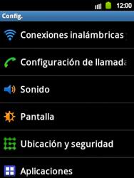 Configura el Internet - Samsung Galaxy Y  GT - S5360 - Passo 3