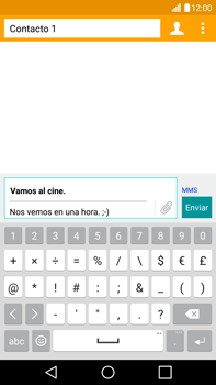 Envía fotos, videos y audio por mensaje de texto - LG V10 - Passo 12