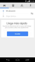 Uso de la navegación GPS - Motorola Moto E (1st Gen) (Kitkat) - Passo 15