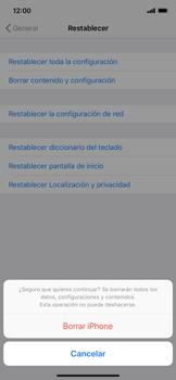 Restaura la configuración de fábrica - Apple iPhone XS Max - Passo 7