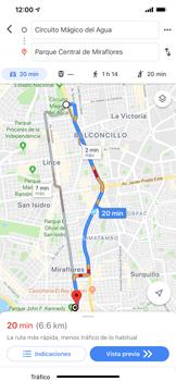 Uso de la navegación GPS - Apple iPhone 11 - Passo 17