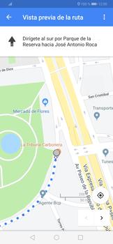 Uso de la navegación GPS - Huawei P30 - Passo 17