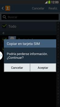 ¿Tu equipo puede copiar contactos a la SIM card? - Samsung Galaxy Note Neo III - N7505 - Passo 9