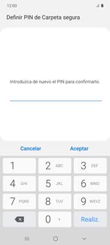 Cómo habilitar Carpeta Segura - Samsung Galaxy S10 Lite - Passo 16