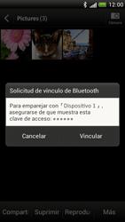 Transferir fotos vía Bluetooth - HTC One S - Passo 13