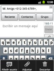 Envía fotos, videos y audio por mensaje de texto - Samsung Galaxy Y  GT - S5360 - Passo 8