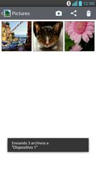 Transferir fotos vía Bluetooth - LG Optimus G Pro Lite - Passo 11