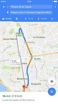 Uso de la navegación GPS - Apple iPhone 7 Plus - Passo 14