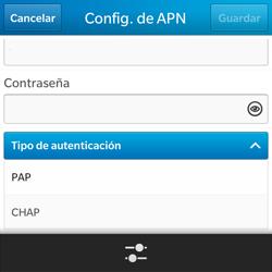 Configura el Internet - BlackBerry Q5 - Passo 10