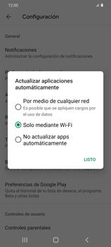 Cambiar configuración de actualizaciones de aplicaciones - Samsung Galaxy S20 - Passo 10