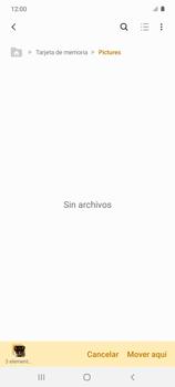 Transferir datos desde tu dispositivo a la tarjeta SD - Samsung Galaxy S10 Lite - Passo 13