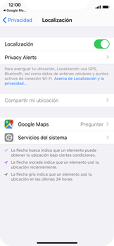 Uso de la navegación GPS - Apple iPhone XS - Passo 7