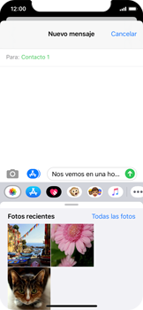 Envía fotos, videos y audio por mensaje de texto - Apple iPhone XS - Passo 10